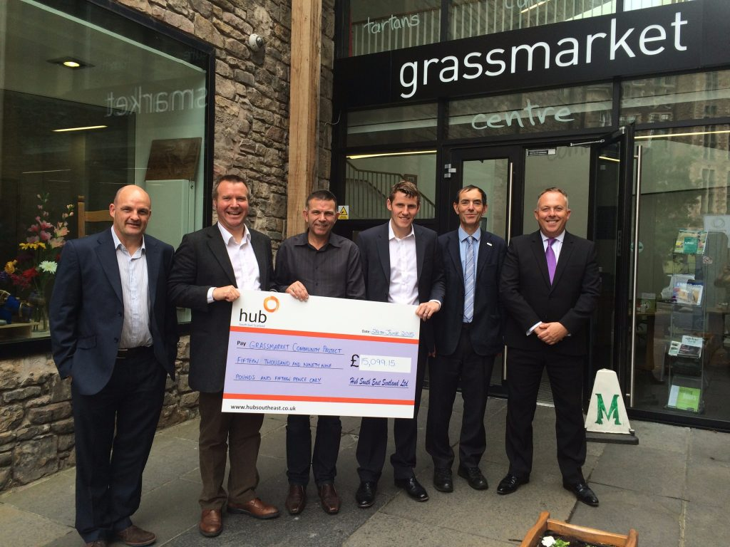 Grassmarket Cheque Handover