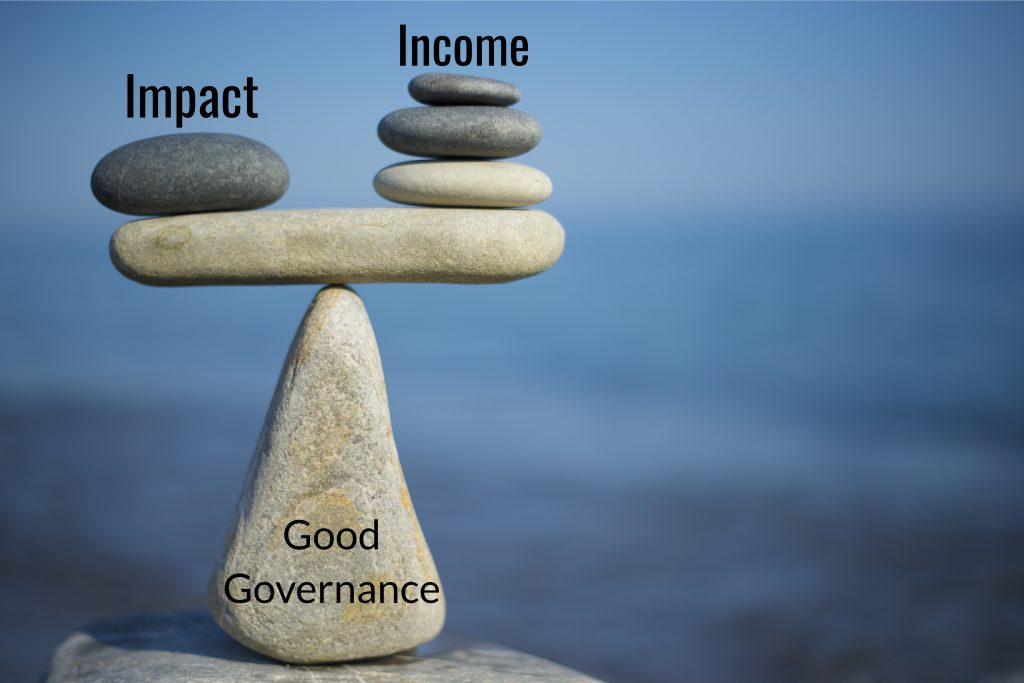 this depicts the importance of gernating income and maximising impact