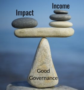 Blancing social impact with income generation